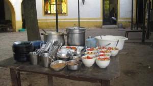 So sieht das typische Mahl aus, das es morgens, mittags und abends gibt. Sehr zu empfehlen! Foto: Nora von Breitenbach