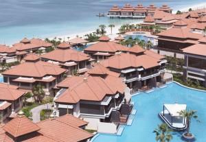 Das Anantara Dubai The Palm Resort & Spa ist das einzige Resort im Nahen Osten mit Wasservillen. Foto: Stromberger PR