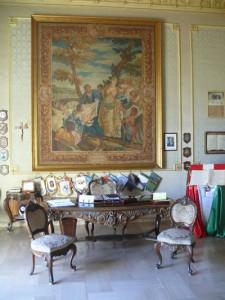 Das Büro des Pretors in Scicli.