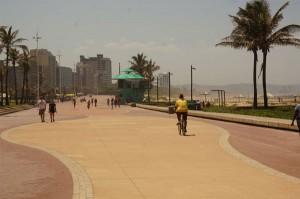 Die Promenade am Strand von Durban.