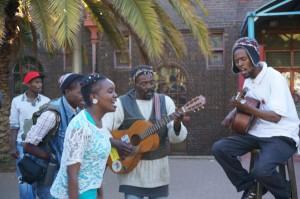Straßenmusiker in Newtown – Spontaneität ist das Kennzeichen dieses Johannesburger Stadtteils.