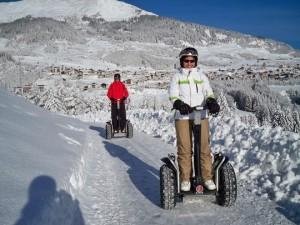 Eine gute Alternative zum Skifahren: eine Segwaytour im Schnee. Foto: segway-fiss.at