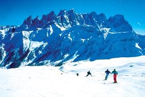 Großes Gedränge auf den Pisten gibt es nicht, dafür ist das Skigebiet zu groß. - Foto: Dolomiti SuperskiGroßes Gedränge auf den Pisten gibt es nicht, dafür ist das Skigebiet zu groß. - Foto: Dolomiti Superski