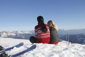 Kurze Pause im Schnee. Foto: Südtirol Marketing GmbH
