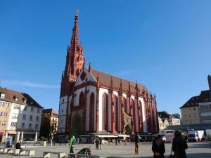Die Marienkapelle in Würzburg ist ein gotischer Kirchenbau auf dem Unteren Markt. Trotz ihrer Größe ist sie kirchenrechtlich eine Kapelle. - Foto: Dieter Warnick
