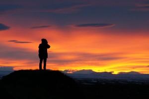 Sonnenuntergang in Island.