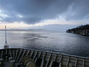 Die MS Trollfjord startet ihre Reise in den hohen Norden.