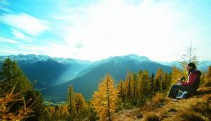 Bunte Bäume, weiße Gipfel, weiter Blick: Herbst im Pitztal. - TVB Pitztal