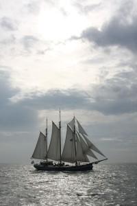 Das Wetter macht's möglich: alle Segel gehisst. Foto: Sabine Umla-Latz