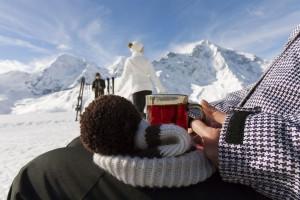 Kein Stau am Lift, keine Hektik auf der Piste und Après-Ski gediegen. Im Vinschgau geht's auch in der Hauptsaison entspannt zu. – Foto: Vinschgau Marketing/Frieder Blickle.