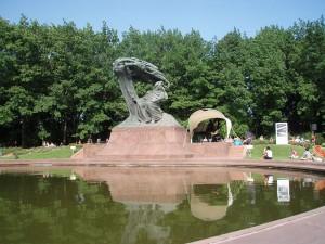 Chopin-Konzert im Lazienkowski-Park. Foto: Raja Kraus