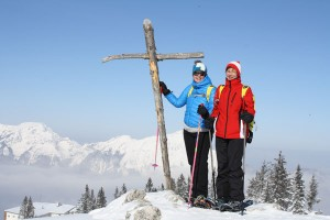 Gipfelerlebnis auf Schneeschuhen am Predigtstuhl. – Foto: Kuntz & Partner PR