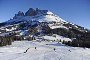 Skifahren vor grandioser Kulisse – was gibt es Schöneres… – Foto: Carezza Ski, Laurin Moser