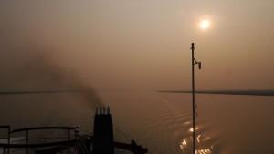 Sonnenuntergang vom Schiff aus.