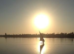 Sonnenuntergang am Nil. Foto: Gisela Marzin