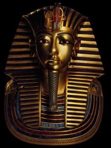Die Tutanchamun-Maske – ein Replikat.