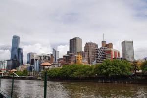 Melbourne vom Yarra River aus.