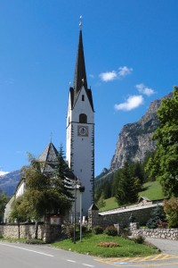 Vom Namen der Kirche stammt auch der deutsche Name, unter dem La Villa bekannt ist: Stern. – Dieter Warnick