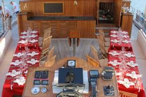 Das Captain's Dinner ist vorbereitet.