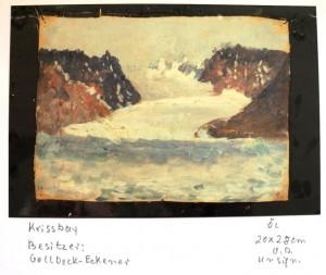 Alex Eckener malte viel auf seiner Reise.