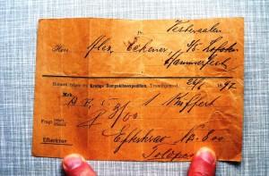 Eckeners Fahrkarte.
