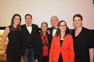 Die Hoteliersfamilie, von links Tochter Anna, Sohn Andreas, die Senior-Chefs Wilma und Karl Wachtler sowie die Töchter Karoline und Barbara.