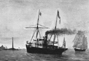 "Der Dampfer ""Lofoten"". Foto: Archiv Hurtigruten-Museum"