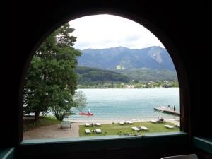 Blick von der alten Badeanstalt auf den See. – Foto: Dieter Warnick