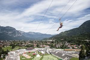 Nur Fliegen ist schöner. - Foto: Garmisch-Partenkirchen Tourismus / Mathias Fendt