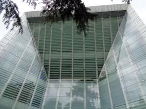 Eine gewaltige Glasfassade ziert das Museum für moderne und zeitgenössische Kunst. - Foto: Dieter Warnick