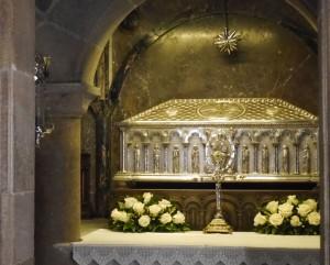 Schrein der Gebeine des hl. Jakobus.