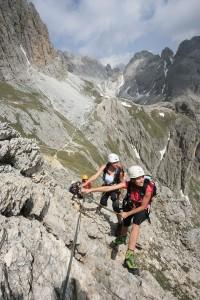 Schwindelfrei sollte man schon sein, wenn man den einen oder anderen Eggentaler Gipfel erklimmen will.