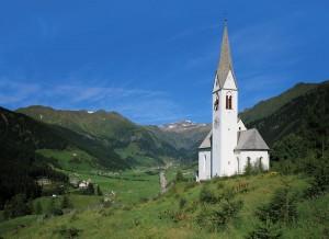 Ein Wahrzeichen des Ridnautals ist die Knappenkapelle.