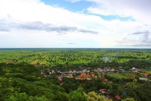 Die Aussicht von dem Phoum Sompov Berg.