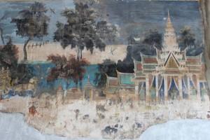 Wandmalereien im Königspalast.