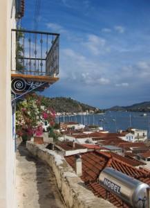 Ausblick über die Bucht von Poros.