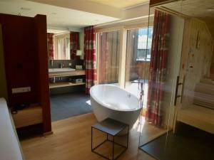 Eine der neuen Lifestyle-Suiten mit Privat-Sauna.