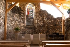 Die Burgkapelle ist seit 2012 wieder eröffnet – heiraten erwünscht. – Foto: Burg Landskron