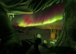 Aurora borealis in Island. Foto: meine-kartenmanufaktur.de