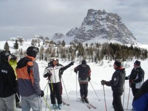 Der Monte Pelmo thront über allem. - Foto: Birgit Weichmann