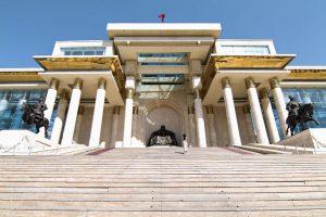 Das Parlament in Ulan Bator befindet sich im Stadtzentrum am Sükhbaatar Platz.