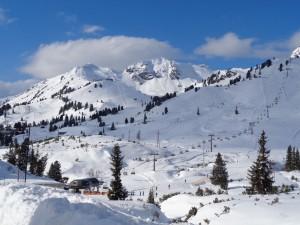 Skifahren bei bestem Wetter - ein Traum. Foto: Dieter Warnick