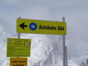 """Die Piste """"Autobahn Süd"""" führt vom südlichsten Punkt des Skigebietes, dem Gamskarlift, hinunter zum Schaidberg. – Foto: Dieter Warnick"""