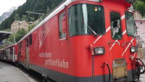Die Matterhorn-Gotthard-Bahn verkehrt zwischen Göschenen und Disentis.