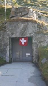 Der Eingang zur Sasso San Gottardo.