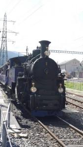 Die Dampflok des Typs HG 3/4 der Furka-Dampfbahn.