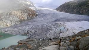 Gletscher und Gletschersee.