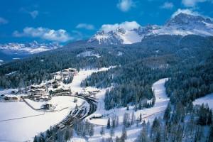Von Obereggen aus geht es hinauf ins Ski Center Latemar. - Foto: Tourismusverband Eggental
