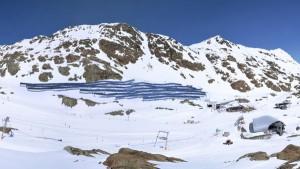Auf dem Pitztaler Gletscher wurde soeben die größte Photovoltaik-Anlage in Betrieb genommen. - Foto: Pitztaler Gletscherbahn