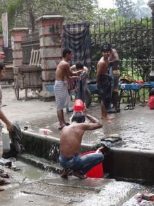 Öffentliche Waschgelegenheit.